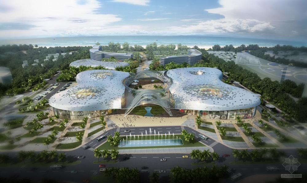 海南三亚海棠湾国际购物中心项目效果图